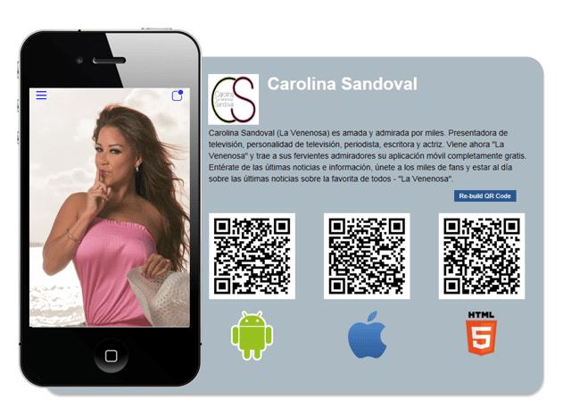 "Panelista de ""Suelta La Sopa"" lanza App  ""Carolina La Venenosa Sandoval"""