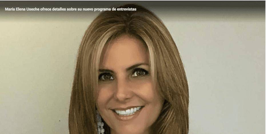 María Elena Useche ofrece detalles sobre su nuevo programa de entrevistas