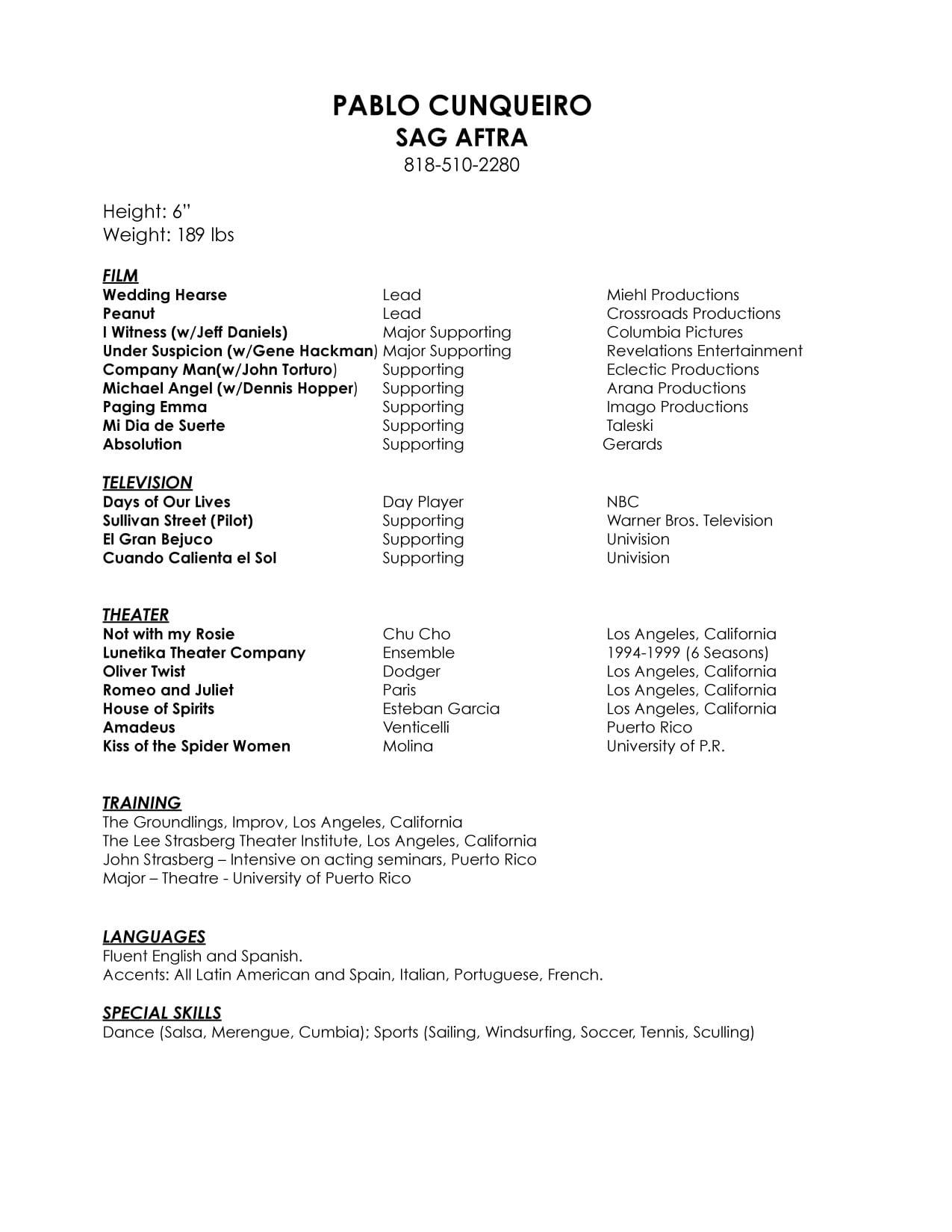 acting-resume